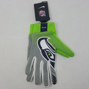 Nike Seattle Seahawks Football Gloves Adult OS